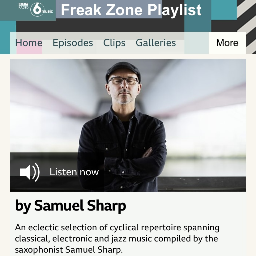 Samuel Sharp On BBC 6 Music